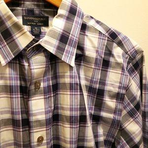 Banana Republic Plaid Button Up Shirt Slim Fit